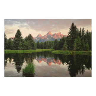 Grand Teton Reflections Over the Beaver Pond Wood Wall Decor