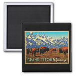 Grand Teton Wyoming Buffalo Magnet