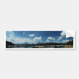 Grand Tetons and Canoes Bumper Stickers
