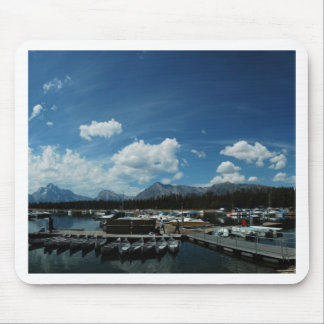 Grand Tetons and Canoes Mouse Pad