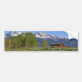 Grand Tetons Barn Bumper Stickers