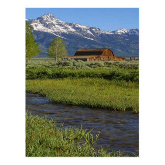 Grand  Tetons Barn Postcard