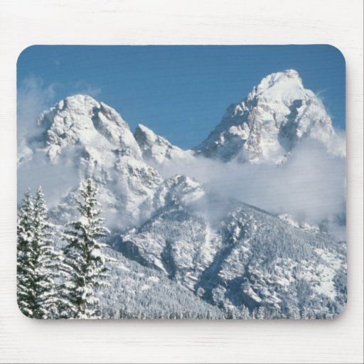 Grand Tetons in Winter Mousepads