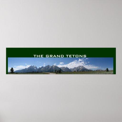 Grand Tetons panoramic poster