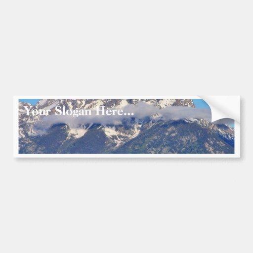 Grand Tetons Peaks In The Morning Bumper Sticker