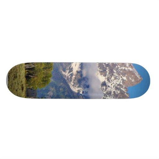 Grand Tetons Peaks In The Morning Skateboard Decks