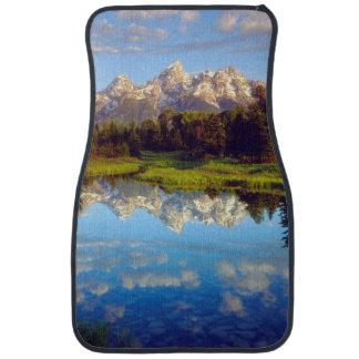 Grand Tetons reflecting in the Snake River Car Mat