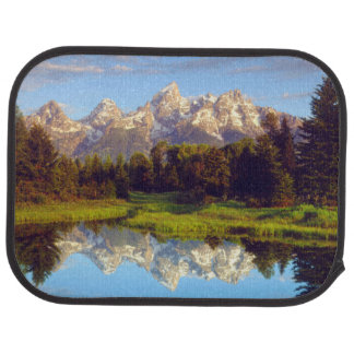 Grand Tetons reflecting in the Snake River Car Mat