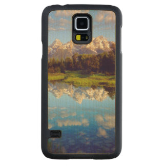 Grand Tetons reflecting in the Snake River Carved Maple Galaxy S5 Case