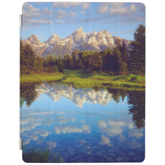 Grand Tetons reflecting in the Snake River iPad Cover