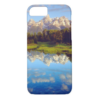 Grand Tetons reflecting in the Snake River iPhone 8/7 Case
