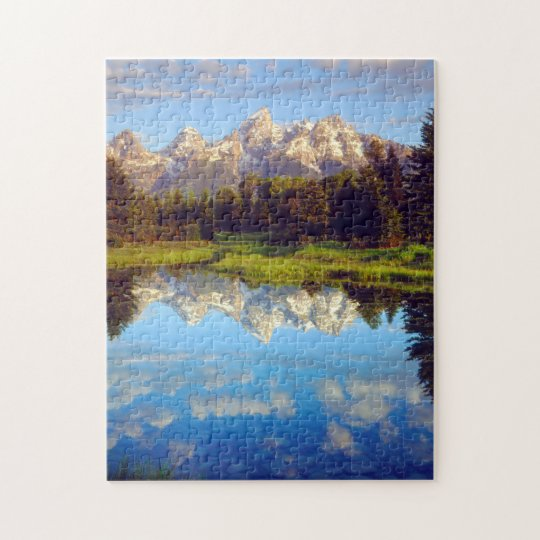 Grand Tetons reflecting in the Snake River Jigsaw