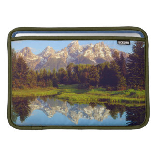 Grand Tetons reflecting in the Snake River MacBook Sleeve