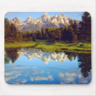 Grand Tetons reflecting in the Snake River Mouse Pad