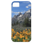 Grand Tetons with Yellow Flowers iPhone 5 Case