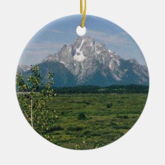 Grand Tetons- Wyoming Christmas Ornament