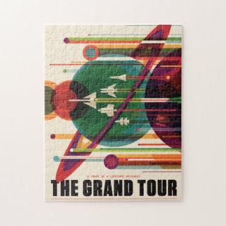 Grand Tour Retro NASA Travel Poster Jigsaw Puzzle