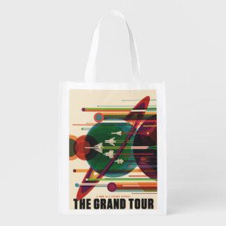 Grand Tour - Retro NASA Travel Poster Market Tote