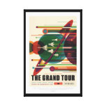 Grand Tour Retro NASA Travel Poster Wrapped Canvas Canvas Print