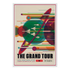 Grand Tour Space Exploration Illustration Poster