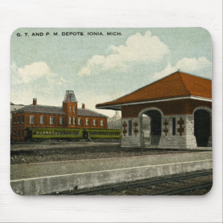 Grand Trunk and Pere Marquette Depots, Ionia, MI Mouse Pad