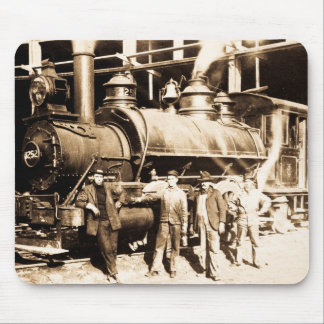Grand Trunk Railroad Shop & Crew  - Vintage Mouse Mat