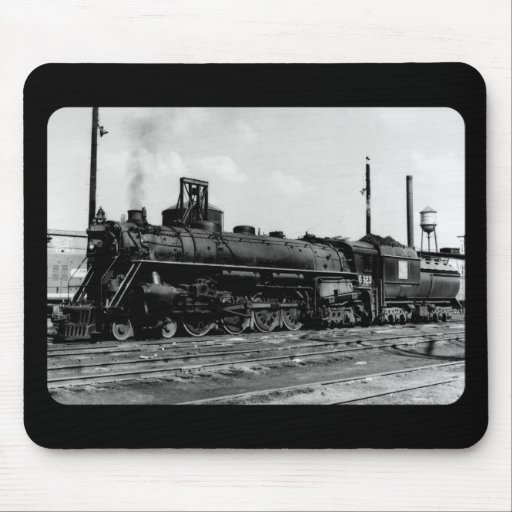 Grand Trunk Western (G.T.W.) Steam Engine #6323 Mouse Pads