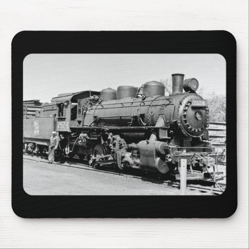 Grand Trunk Western (G.T.W.) steam engine #7524 Mousepads