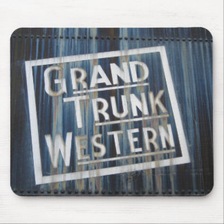 Grand Trunk Western Railroad Locomotive Engine Mouse Pad