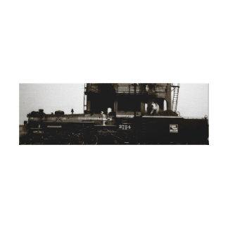 Grand Trunk Western Steam Engine No 3754 Canvas Print