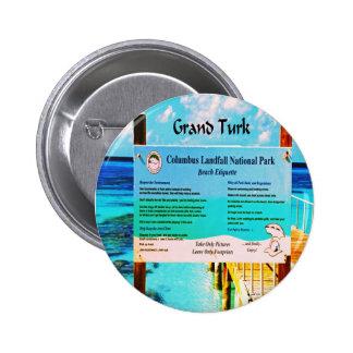 Grand Turk 6 Cm Round Badge