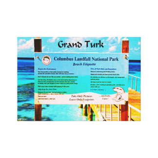 Grand Turk Stretched Canvas Print