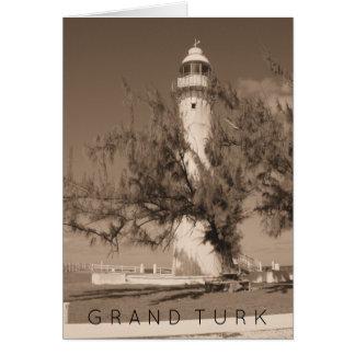 Grand Turk Caribbean Lighthouse Photo Turks Caicos Card