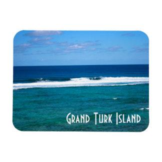 Grand Turk Island Wave Rectangular Photo Magnet