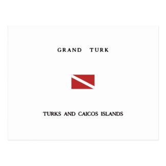 Grand Turk Turks and Caicos Islands Scuba Dive Postcard