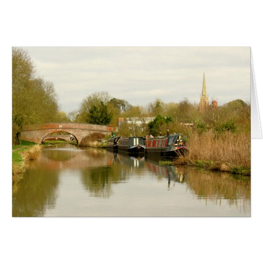 Grand Union Canal Narrowboat Scene at Braunston. Card