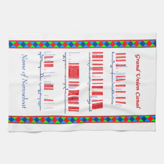 Grand Union Canal UK Inland Waterways Route Red Tea Towels