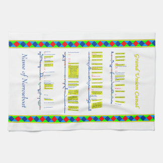 Grand Union Canal UK Inland Waterways Route Yellow Tea Towels