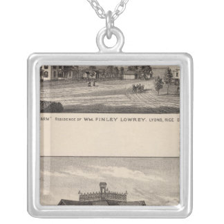 Grand View Farm, Kansas Silver Plated Necklace