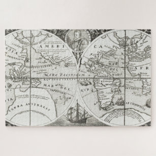 Grand Voyages Old Antique General Map World Jigsaw Puzzle