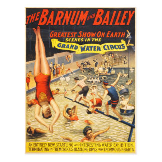 Grand Water Circus Postcard