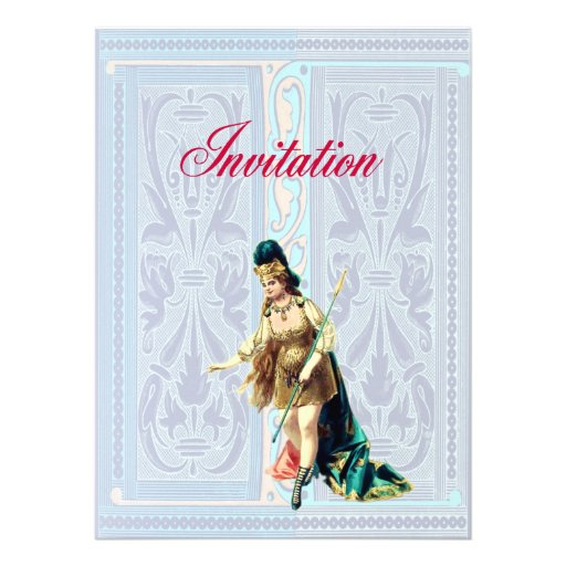 Grand Woman Warrior - Vintage Illustration Personalized Invitation