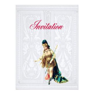 Grand Woman Warrior - Vintage Illustration Invite