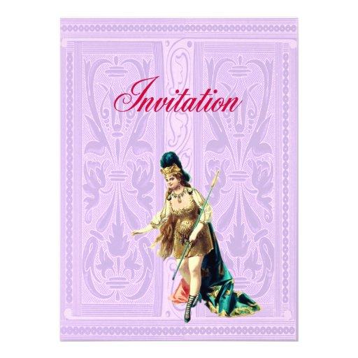 Grand Woman Warrior - Vintage Illustration Personalized Invite