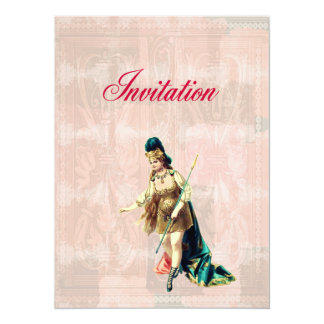 Grand Woman Warrior - Vintage Illustration 14 Cm X 19 Cm Invitation Card