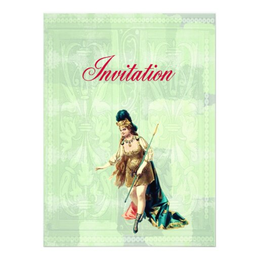 Grand Woman Warrior - Vintage Illustration Invitation