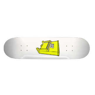 grand yellow upright piano with music.png skate decks