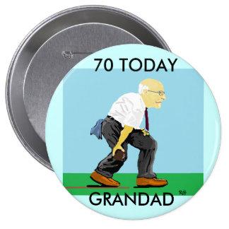 GRANDAD 70TH BADGE