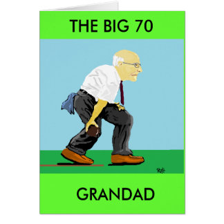 GRANDAD 70TH BIRTHDAY GREETING CARD