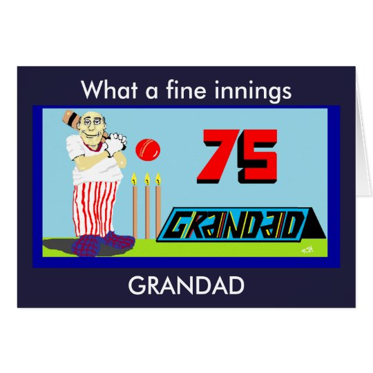 GRANDAD 75TH BIRTHDAY CARD